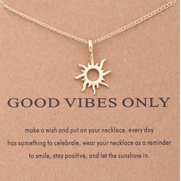 Trend Setter Diva Jewels Jewelry - Restocked! Good Vibes Only Pendant necklace!